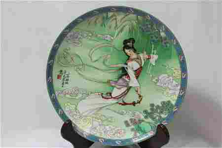 A Chinese Collector's Plate