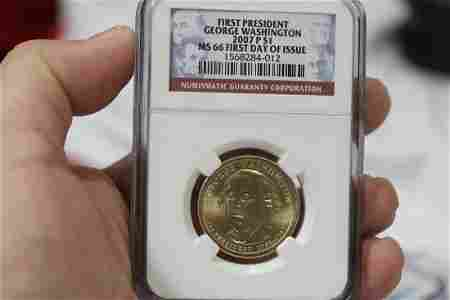 An NGC Graded 2007 First Day of Issue Dollar