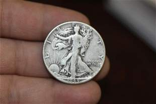 A 1944  Walking Liberty Silver Half Dollar
