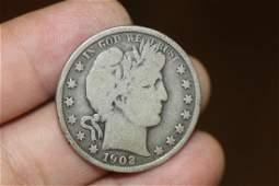 1902 Barber Silver Half