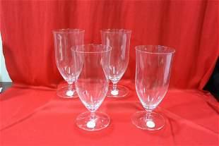 A Set of 4 Lenox Iced Beverage Glasses