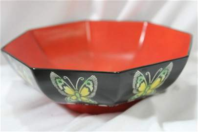A Rare Shelley Octagon Ceramic Bowl
