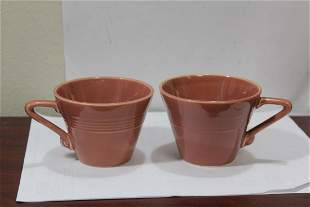 Lot of Two Vintage Fiesta Harlequin Cup