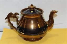 A Ceramic Lusterware Teapot
