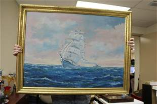 Oil on Canvas of a Clipper Ship