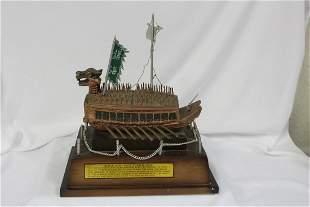 An Oriental Decorative Boat