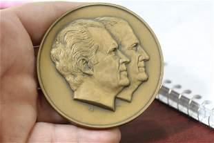 A Solid Bronze Richard Nixon Medal