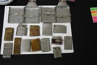 Lot of 15 Lighters/Lighter Cigarette Case Combos