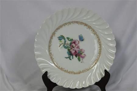 A Haviland Limoge H+C Salesman Sample Plate