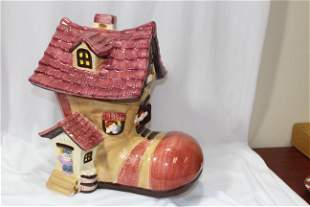 A Shoe Form Ceramic Cookie Jar