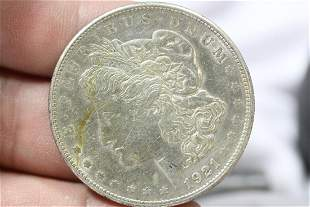 A 1921-S Morgan Silver Dollar