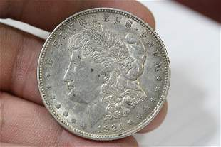 A 1921-D Morgan Silver Dollar