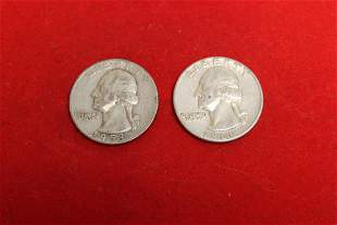 A Lot of 2 Silver Washington Quarters