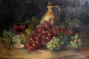 Antique Oil on Canvas With Gold Gilt Frame