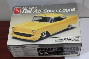 An AMT 1957 Chevy Bel Air Sport Coupe Model Car Kit