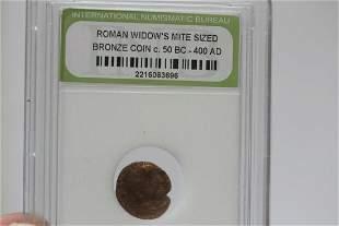 A Slabbed Roman Bronze Coin