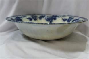 A Large Flow Blue Bowl