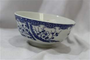A Vintage Oriental Blue and White Bowl