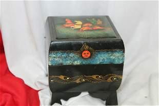 A Signed Russian Lacquer Folk Art Box