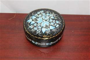 A Signed Vintage Russian Lacquer Box
