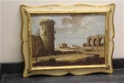 An Italian Florentine Oil on Board Painting