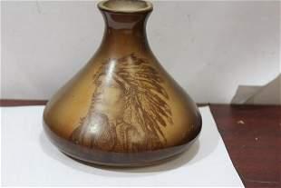 A Chief Design Milk Glass Bottle