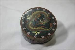 A Cloisonne Dragon Box
