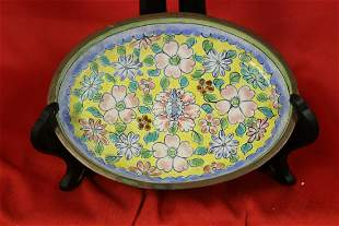 A Chinese Canton Enamel Small Dish