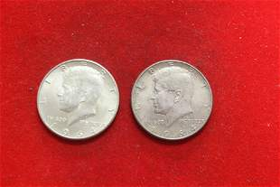 Lot of 2 1964 Kennedy silver Halves