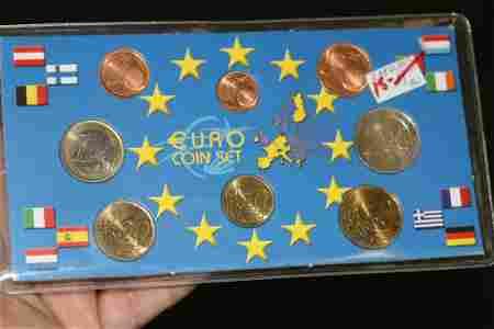 A 2002 Euro Coin Set