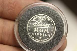 A Silver disney Coin