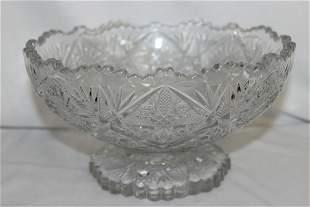 A Pressed Glass Bowl