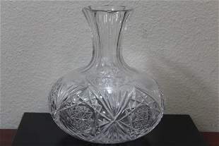 A Cut Glass Vase/Bottle