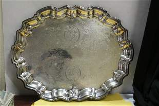 An Ornate Silverplated Tray