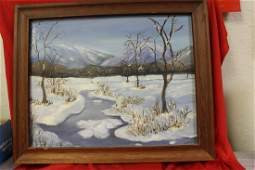 A Signed Horton Oil on Board Painting