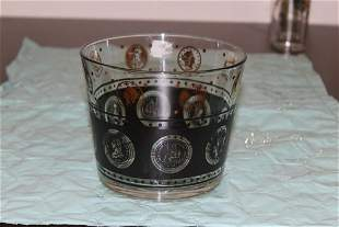 A Retro Glass Ice Bucket