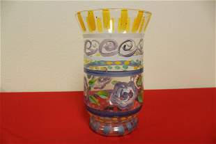 A Handpainted Glass Vase