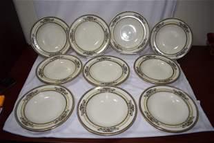 Set of 10 Lenox Soup Bowls
