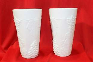 A Pair of Milk Glass Cups