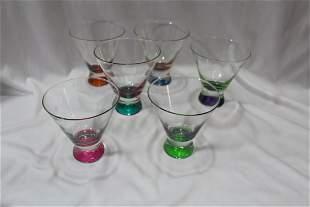 A Set of 6 Dansk Spectra Cocktail Glass