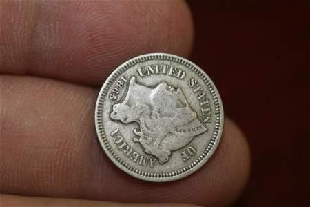 An 1865 3 Cent Piece