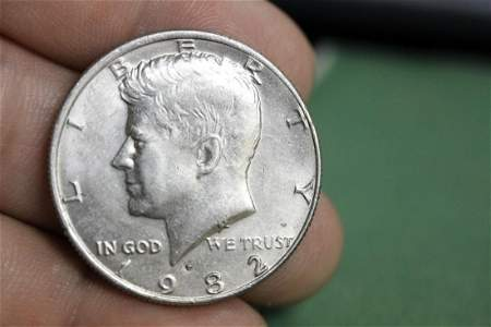 A Mint Error 1982-P Kennedy Half