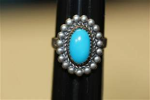 A Sterling and Turquoise Ring