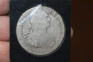 The first American Dollars: Mexico 8 Reals