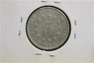 A Very High Graded 1882 Shield Nickel