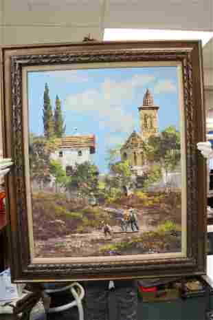 A Vintage Spanish Signed Oil on Canvas Painting