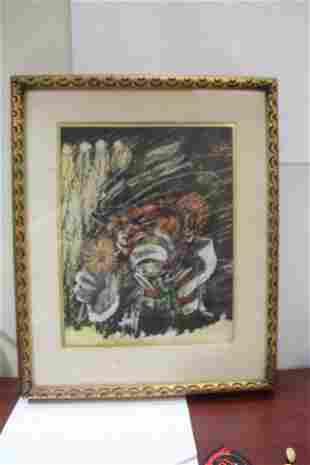 A Framed Clown Painting