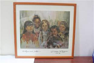 A Rare Signed Don Ruffin Lithograph or Print -
