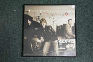 A Signed Goo-Goo Dolls Framed Poster or Album