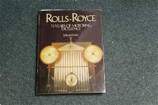 Hardcover Book: Rolls -Royce 75 Years of Motoring